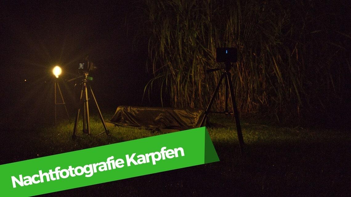Nachtofotografie beim Karpfenangeln
